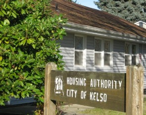 Kelso Housing Authority Sign